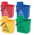 CleanWorks Colour Coded Mop Bucket - Green