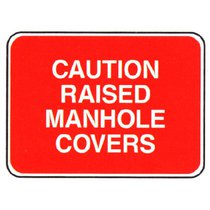 Caution Raised Manhole Covers
