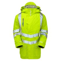 PULSAR® High-Visibility Breathable Unlined Storm Coat - Saturn Yellow