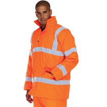 KeepSAFE High Visibility Rail Breathable Road Safety Jacket