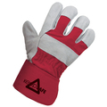 Keep Safe Chrome Leather Cotton Back Rigger Glove