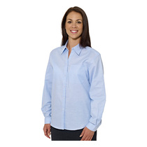 Double Two Ladies Polycotton Long Sleeve Oxford Shirt