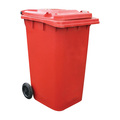 2 Wheel 240 Litre Dustbin - Red