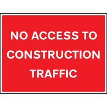 No Access to Construction Traffic Safety Sign