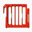 Double Top Pedestrian Barrier Red