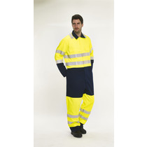 BlazeTEK High Visibility Contrast Flame Retardant Anti-Static Coverall - Tall