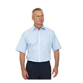 Double Two Wrinkle-free Poplin Short Sleeved Mens Shirt