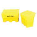 6 Cu Ft Stackable Grit/Salt Bin Yellow