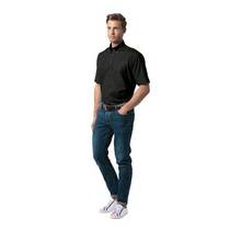 Men's Workwear Pinpoint Oxford Short Sleeve Shirt-Black