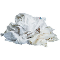 White Towelling Textile Rags