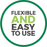 Flexible and easy to use
