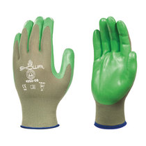 Showa 4552 Green Biodegradable Nitrile Foam Palm Coated Glove