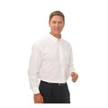 Double Two Polycotton Oxford Weave Wrinkle Free Cotton Rich Long Sleeve Shirt