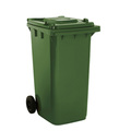 2 Wheel 240 Litre Dustbin - Green