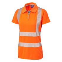 Leo Pippacott Coolviz Plus Women's Polo Shirt - High-Visibility Orange