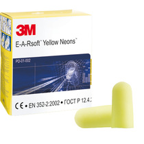3M EARsoft Neons Foam Ear Plugs