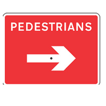 Pedestrian Sign with Reversible Arrow