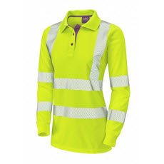 KeepSAFE Ladies Coolviz Plus Polo Shirt Sleeved