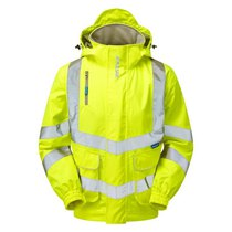 PULSAR® High-Visibility  Breathable Unlined Bomber Jacket - Saturn Yellow