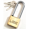 Spartan Long Shackle Brass Padlock