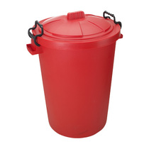 Coloured Plastic Dustbins Red