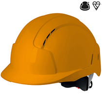 JSP Evolite Vented Wheel Ratchet Safety Helmet - Orange