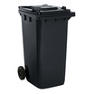 2 Wheel 240 Litre Dustbin Grey/Black