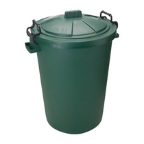 Coloured Plastic Dustbins Green