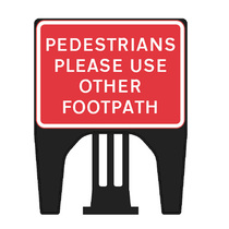Q Pedestrian Use Other Footpath Dia 7018 Sign