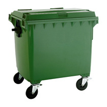 4 Wheel 1100 Litre Flat Top Dustbin