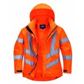 Portwest Women's High-Visibility Breathable Jacket - Orange