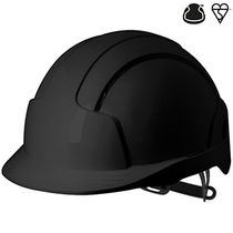 JSP Evolite Vented Wheel Ratchet Safety Helmet - Black