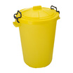 Coloured Plastic Dustbins Yellow