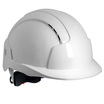 JSP Evolite Vented Wheel Ratchet Safety Helmet - White