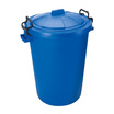 Coloured Plastic Dustbins Blue