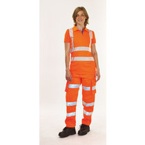 Keep Safe Women's High Visibility Combat Trousers - Short