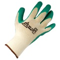 KeepSAFE Grip Latex Palm Coated Glove - Yellow/Green