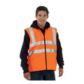 KeepSAFE High-Visibility Rail Reversible Bodywarmer