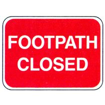 DIA 7018 (567.1) Footpath Closed