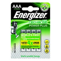 Energizer Plus Power Rechargeable Battery Type AAA Pack of 4