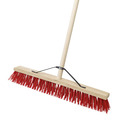 24'' Red PVC Stiff Broom