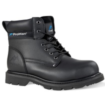 Rock Fall Goodyear Welted Safety Boot with Midsole Black