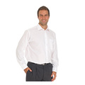 Double Two Wrinkle-free Poplin Long Sleeved Mens Shirt