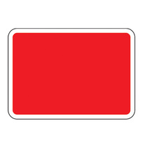 Blank Vinyl Road Sign Plate Red 1050x750MM