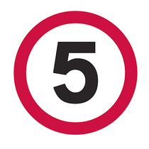 5MPH Temporary Road Sign Plate