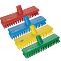 7041 Vikan Hygienic Stiff Bristle Scrubbing Brush Head Blue