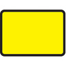 Blank Vinyl Road Sign Plate 105x75CM Yellow