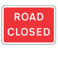 Road Closed Sign Plate with Frame