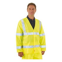 BlazeTEK EN 471 Flame Retardant High Visibility Long Sleeve Waistcoat