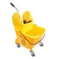 CleanWorks Combination Mop Bucket Yellow